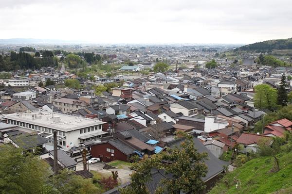 富山市街地一望
