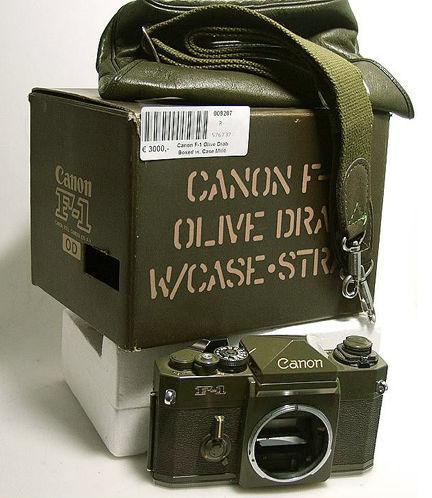 canon f-1 olive