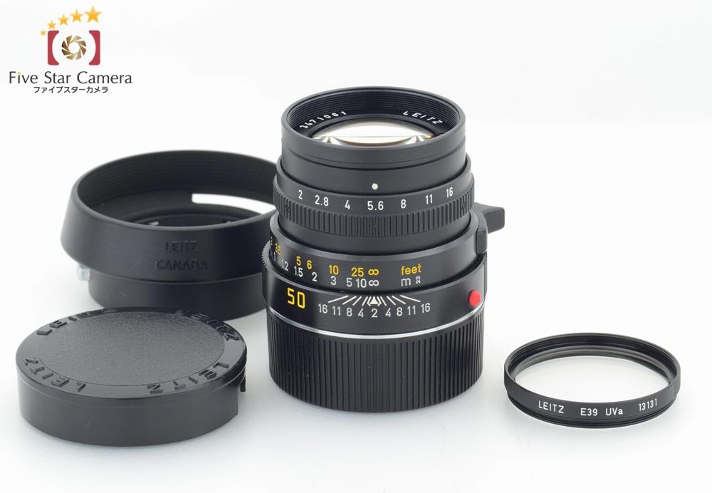 【中古】Leica ライカ SUMMICRON-M 50mm f/2 第三世代 E39 11819 ドイツ製