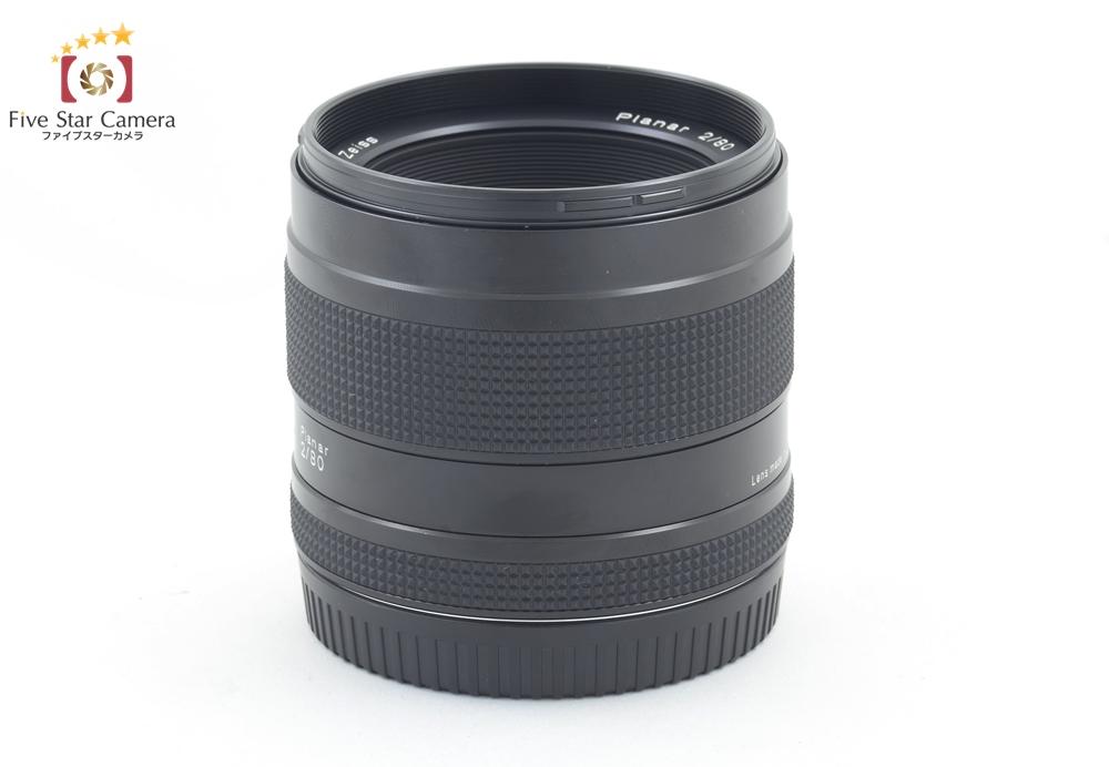【中古】CONTAX コンタックス Carl Zeiss Planar 80mm f/2 T*