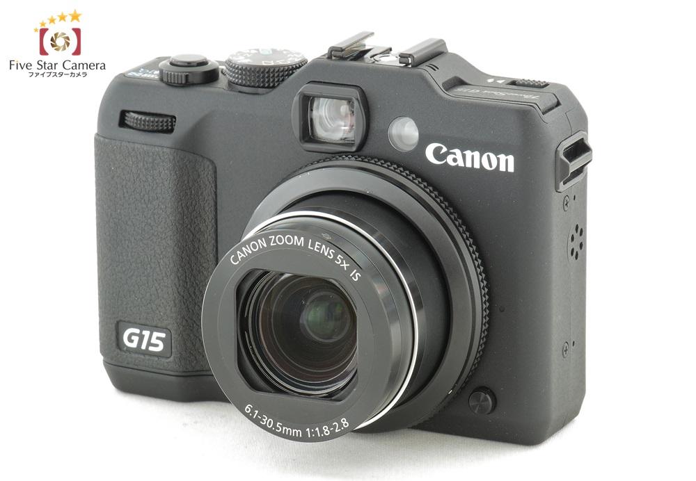 【中古】Canon キヤノン PowerShot G15 コンパクトデジタルカメラ