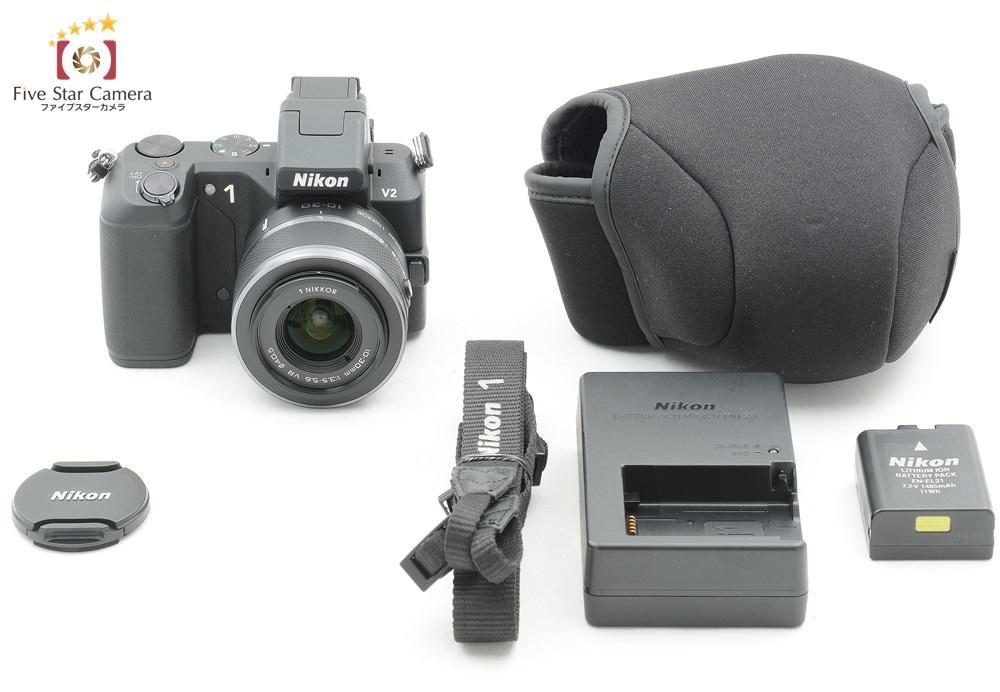 中古 nikon ニコン 1 v2 10 30mm レンズキット ブラック 中古カメラ