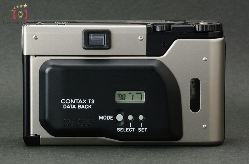 【中古】CONTAX コンタックス T3D データバック