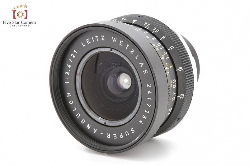 【中古】Leica ライカ SUPER-ANGULON M 21mm f/3.4 黒鏡胴