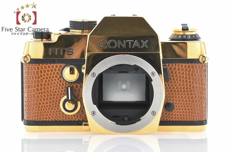 【未使用品】CONTAX コンタックス RTS ゴールド + Carl Zeiss Planar 50mm f/1.4 T* 50周年記念モデル