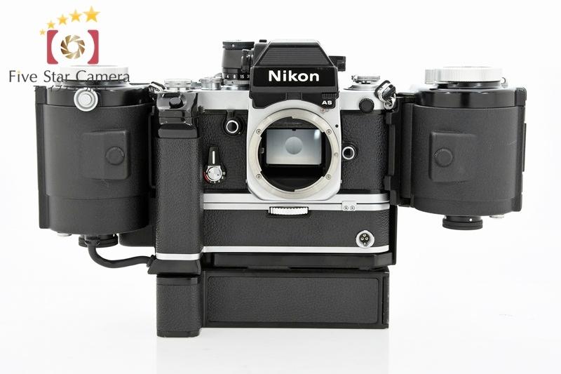 【中古】Nikon ニコン F2 フォトミックAS シルバー 後期シリアル804〜 + Ai Nikkor 50mm f/1.4 + 250フィルムバック MP-1 + モータードライブ MD-2